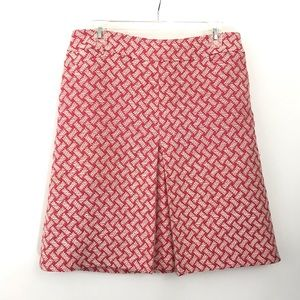 Talbots Women's Lined Skirt size 10 Pink & White